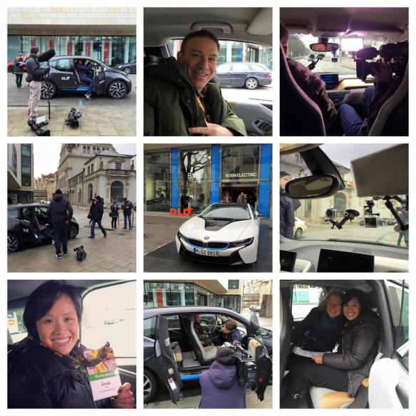Behind the scenes look at BMWi's emobility test drive shoot at DLD15.