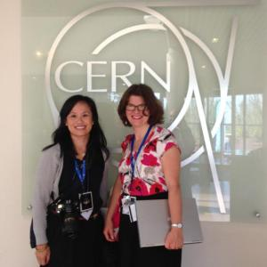 CLC Advisors, LLC CEO Cindy Chin with CERN's Kate Kahle